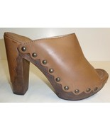 Stuart Weitzman Size 10 M SEQUOIA Brown Leather Heels Mules New Womens S... - $168.64