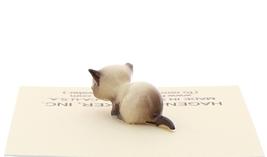 Hagen-Renaker Miniature Cat Figurine Tiny Siamese Kitten Lying Seal Point image 3