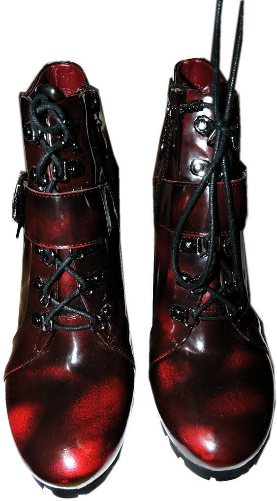 Vince Camuto Ankle Lace Up Combat Buckle Boots Booties 8 / 38 image 4
