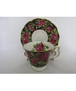 Royal Albert Bone China Bouquet Series Chintz Cup & Saucer - Crimson Glory - $562,11 MXN
