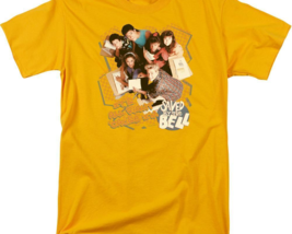 Saved by the Bell Zack, Slater, 80's retro TV series graphic gold tee NBC564 image 2
