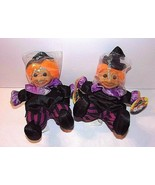 """Russ Witch Trolls 2 Witches NEW  6"""" Sitting Halloween Purple Black Orang... - $33.61"""