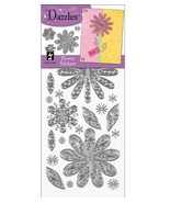 Hot Off The Press Dazzles Stickers, Silver Flower - $6.21
