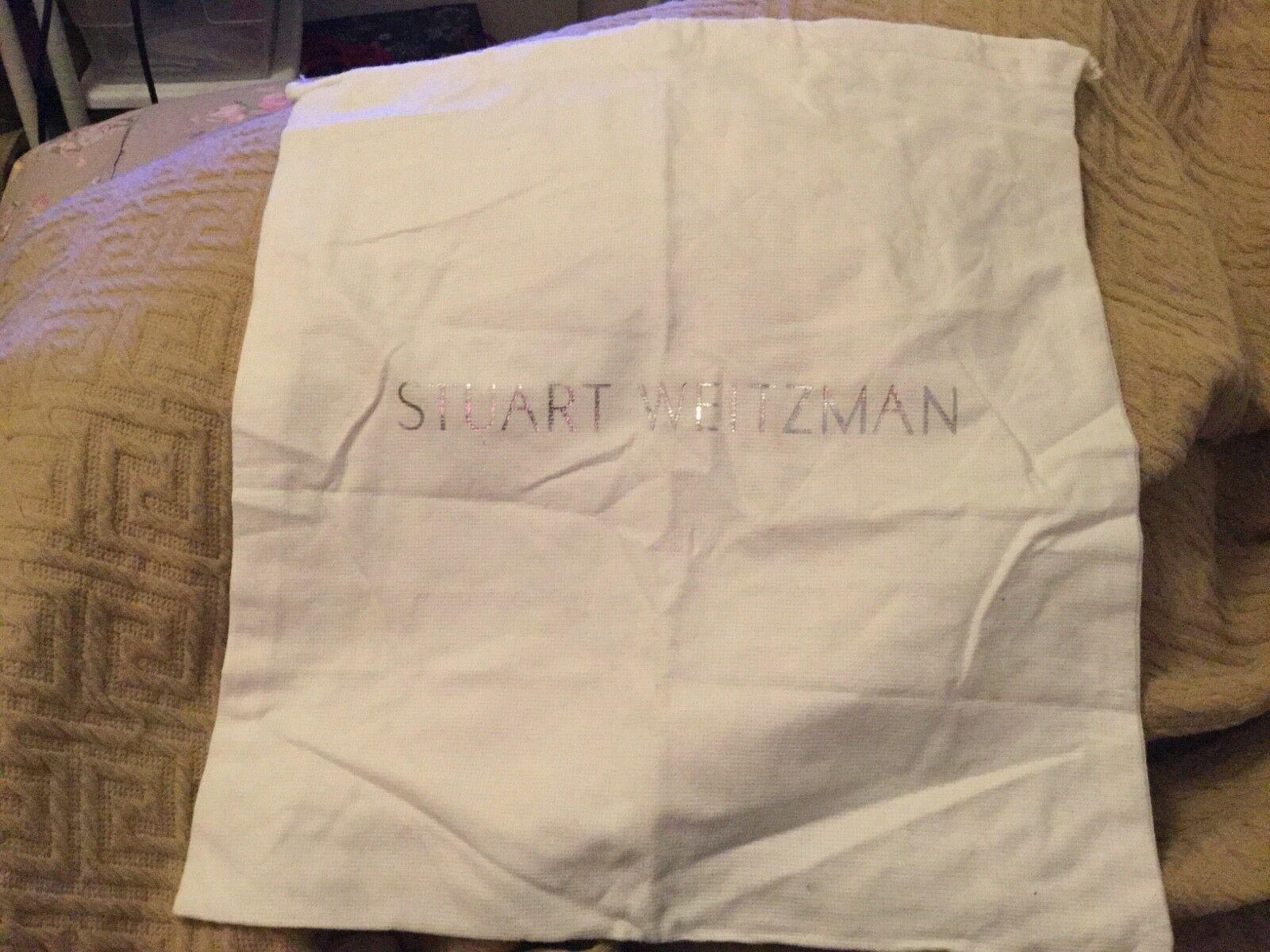 NEW STUART WEITZMAN DUST BAG WHITE WITH DRAWSTRING  14 x 15 - $7.22