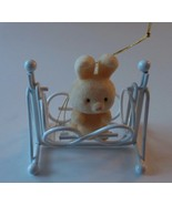 Avon Gift The Spring Bunny Collection Bunny Rabbit in a Cradle Figurine - $7.69