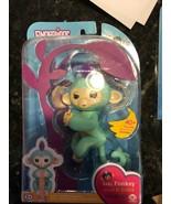 NEW WowWee Fingerlings Zoe Turquoise Purple Hair Monkey Interactive Auth... - $18.54