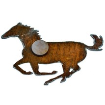 Rustic Country Western Rusted Patina Iron Metal Cutout Horse Refrigerator Magnet image 2