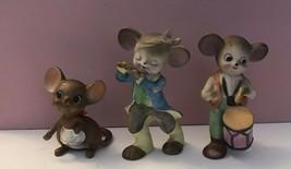 Vintage Miniature Lot Of 3 Mouse Mice Figurines - $14.03