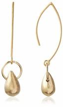 Cristina V USA Fabriqué 18K Jaune Plaqué Or Simple Briolette Goutte Boucles image 1