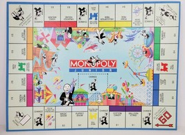 Vintage Monopoly Junior Game Board Only Replacement Parker Brothers 1990 VG - $14.01