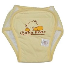 Washable Waterproof Baby Toddlers Pant Newborn Infant Reusable Diaper YellowBear