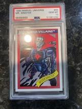 1990 Marvel Universe Mr Sinister Mister Mint PSA 10 Low Pop Rare Impel MCU? - $4,945.05