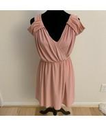 ASOS Women's Dress Size 4 Pink Cold Shoulder Short Sleeve - $24.74