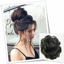 Natural Color Curly Messy Bun Hair Piece Scrunchie Hair Extension image 6