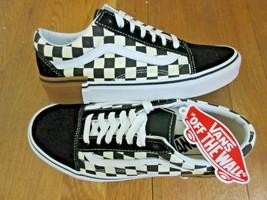 Vans Womens Old Skool Gum Block Checkerboard Skate shoes Black White Siz... - $64.34