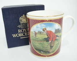 Royal Worcester Golfing Mug Turn of Century Golfers by Melvin Buckley wi... - $29.69