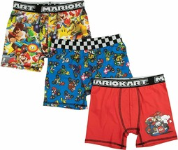 SUPER MARIOKART NINTENDO 3-Pack Boxer Briefs Underwear NWT Boys Sizes 6 ... - $17.99