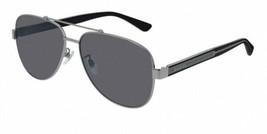 NEW Gucci Men's Sunglasses GG0528S  Ruthenium Frame 63mm Authentic - $245.00