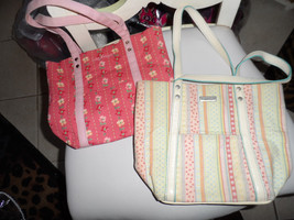 Lot of 2 pastel colored Longaberger totes - $10.50