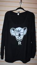 New Torrid Womens Plus Size 6X 6 Black Rebel Gangsta Koala Sweatshirt Shirt Top - $29.02