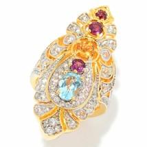 Victoria Wieck Collection 3.52ctw Multi Gemstone & White Zircon Shield Ring - $79.19