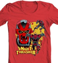 Night Thrasher Graphic T Shirt Marvel Comics New Warriors retro red cotton tee image 2