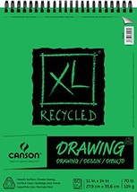 Canson XL Series Recycled Drawing Paper Pad, Top Wire Bound, 70 Pound, 1... - $10.66
