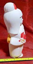 """Vintage Ceramic Japanese Geisha Doll Statute Figure KawaiI Cute 7.5"""" Made Japan image 3"""