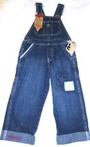 OshKosh B'Gosh Denim Overall JonJon Latzhose 6M 9M Jeans Patch Logo NWT - $14.19