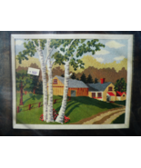 "Bucilla Needlepoint Kit Summer Day 16 x 20"" No. 4204 Painted Canvas Homes - £38.40 GBP"
