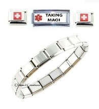 Taking MAOI Caduceus Medical Alert SuperLink 9mm Italian Charm Bracelet - $19.79