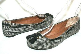❤️ LUCKY BRAND Edison Studded Leather Tassel Herringbone Tweed Flats 7 M L@@K!11 - $18.04