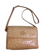 Vintage GUCCI nude brown genuine ostrich leather camera bag style should... - $782.00