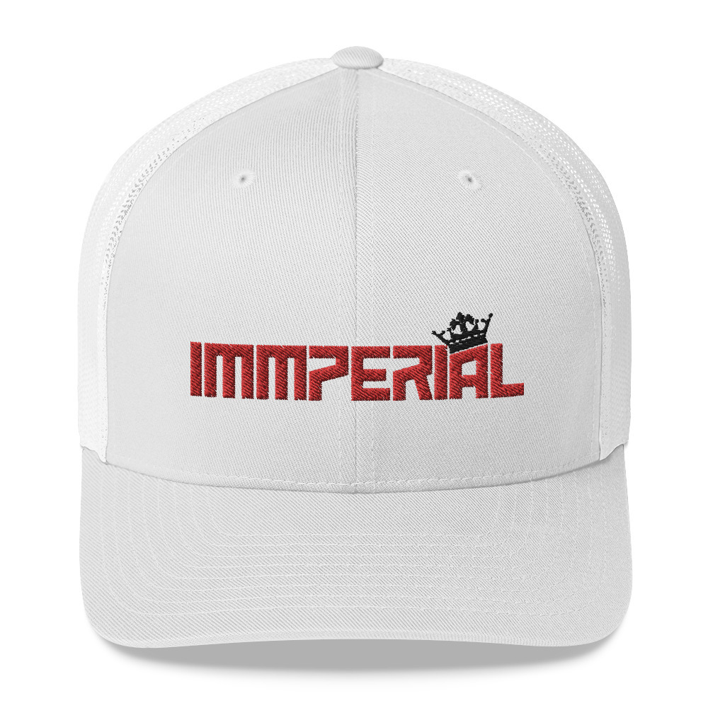 Primary image for Immperialwear Red Embroidery Trucker Cap