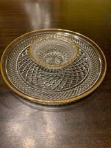 Wexford 2-piece 24k Gold Trim Relish Vegetable or Chip & Dip Set Anchor Hocking - $45.59