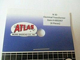 Atlas # 4002067 Electrical Transformer 4 Pieces 3D Printed Accessories N-Scale image 2