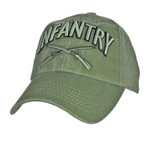 US ARMY INFANTRY - U.S. Army Crossed Weapons OD Green Military Baseball ... - $23.95