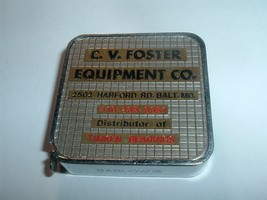 Vintage 1970s  Baltimore Barlow tape Measure C.V. Foster / Timken Bearings - $20.00