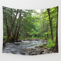 Wall Tapestry Wall Hanging Landscape Photo woods forest trees by L.Dumas - $926,63 MXN+