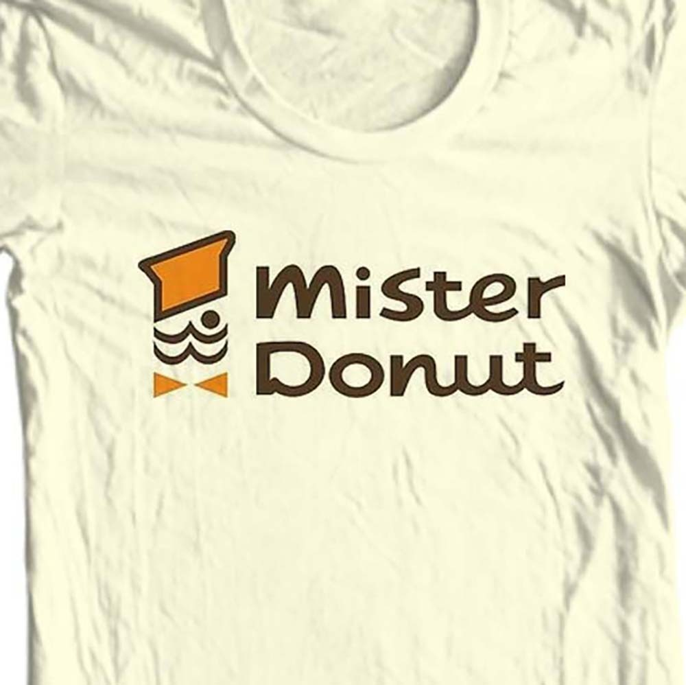 Mister Donut T-shirt retro vintage 70's 80's diner 100% cotton graphic tee