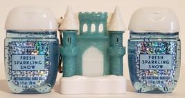 Bath and Body Works Ice Blue castle ligh-up pocketbac holder + 2 hand sa... - $18.99