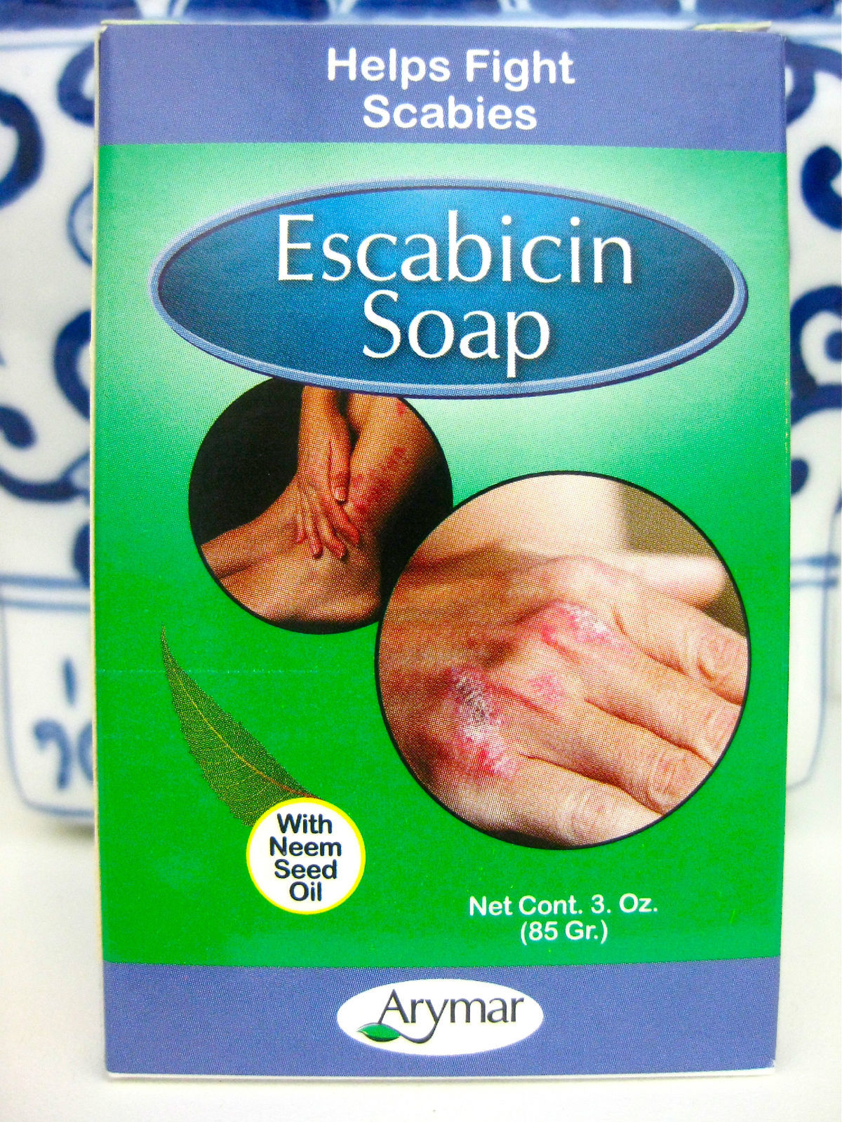 2 x Scabies Mites Soap Bar with Neem Seed Oil & Sulfur 3 oz