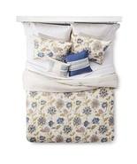5 Piece Comforter Set Cream Floral Santa Cruz Queen - $79.43