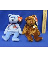 TY Beanie Babies Plush Original Stuffed Animal 2001 America 2002 Champio... - $12.22