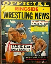 OFFICIAL RINGSIDE WRESTLING NEWS BOXING magazine #8 1964 Cassius Clay cover - $9.89
