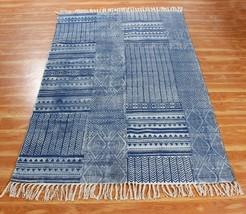 Modern Carpet Hand Block Printed Cotton Area Rugs New Handmade Cotton Dh... - $39.60+