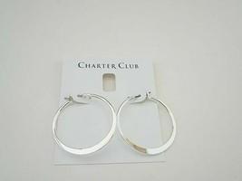 Charter Club Silver Hoop Earrings - New - $13.86