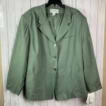 Evan Picone blazer womens plus size 24w sage green NWT RP$188 - $39.60