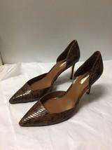 Lauren Ralph Lauren Brown Snake Print Pointed Toe Heels Size 9B - $49.49
