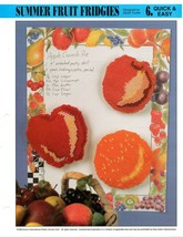 Plastic Canvas Pattern - Summer Fruit Fridgies - Quick & Easy - $1.48